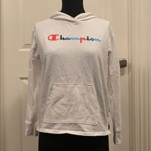 Champion white hooded sweatshirt